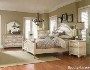 مدل سرویس خواب زیبا و متفاوت چوبی
