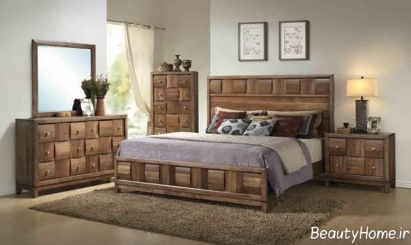 مدل سرویس خواب شیک و جدید چوبی