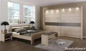مدل سرویس خواب مدرن چوبی