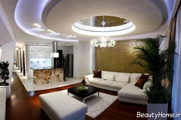 سقف کاذب کناف برای اتاق نشیمن