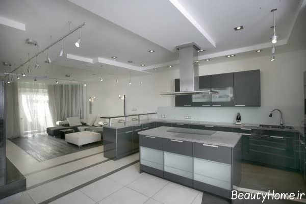 مدل سقف کاذب کناف برای آشپزخانه