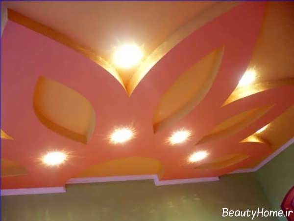 نورپردازی شیک و زیبا سقف کناف