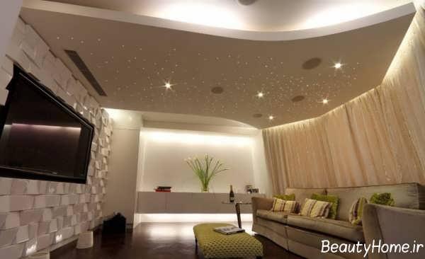 کناف سقف برای سالن پذیرایی