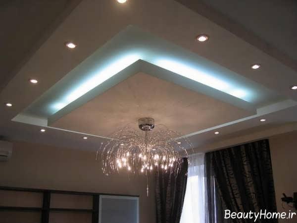 طرح کناف سقف جدید برای سالن پذیرایی