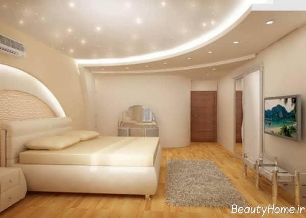 طرح کناف سقف جدید برای اتاق خواب مدرن