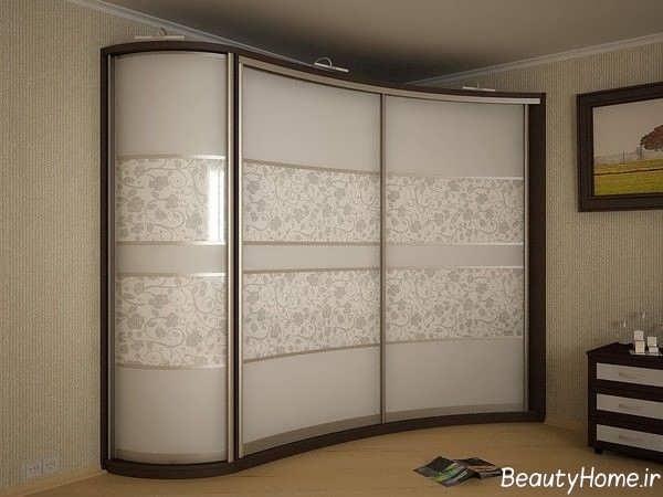 مدل کمد دیواری طرح دار و زیبا برای اتاق خواب