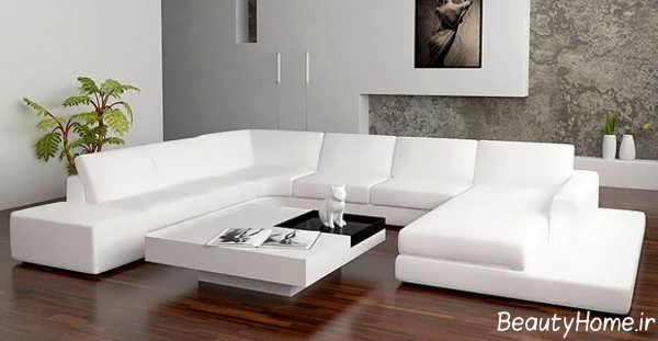 مدل مبل سفید و جذاب