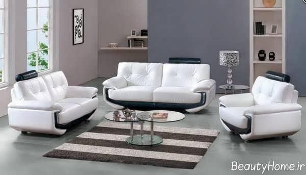 مدل مبل سفید و مشکی