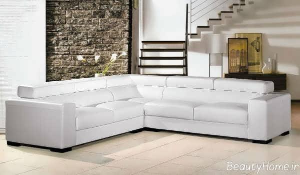 مدل مبل سفید ال