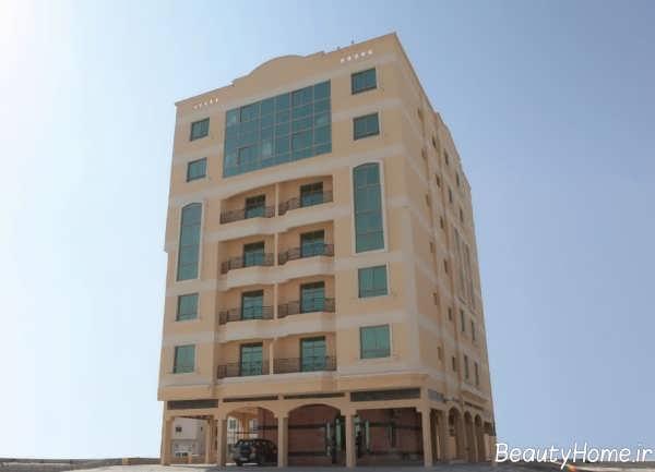 دیزاین نمای ساختمان 5 طبقه