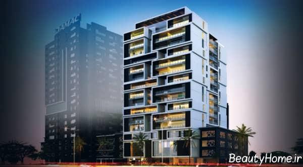 نمای خارجی ساختمان 5 طبقه