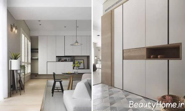 طراحی داخلی خانه کوچک آپارتمانی