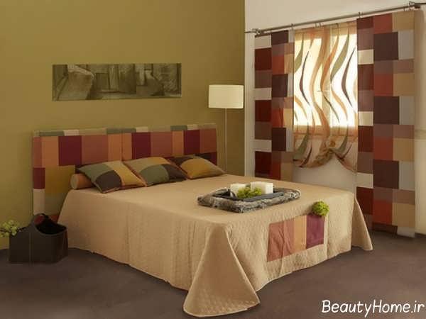 مدل پرده مدرن و طرح دار برای اتاق خواب