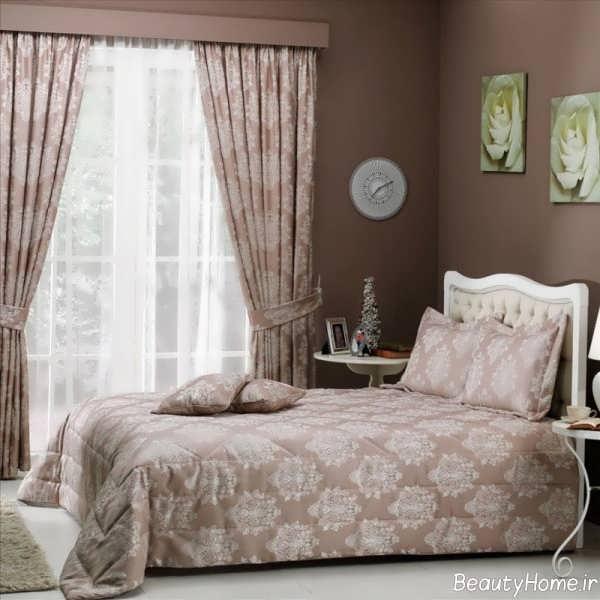 مدل پرده طرح دار برای اتاق خواب