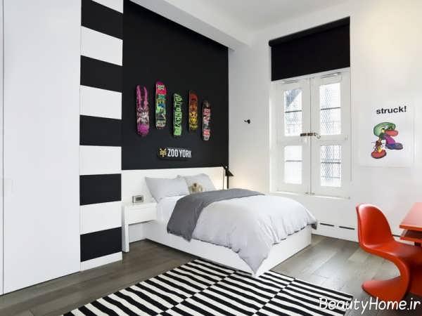 19 ایده استفاده از دیوار سیاه در اتاق خواب