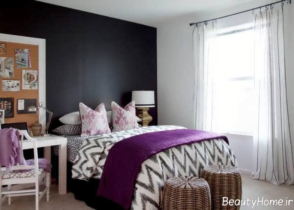 ایده های خلاقانه برای استفاده از دیوار سیاه در اتاق خواب