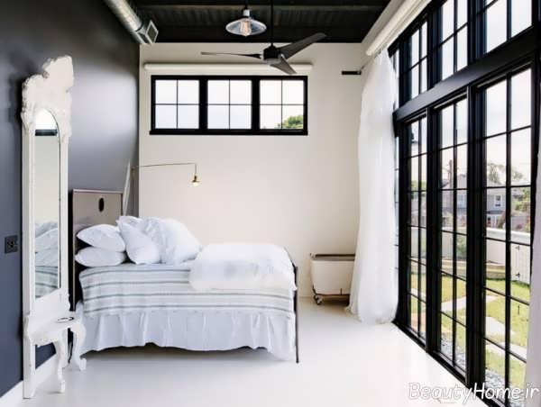 دکوراسیون سیاه و سفید اتاق خواب