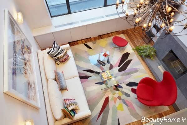 مدل فرش با اشکال هندسی و زیبا