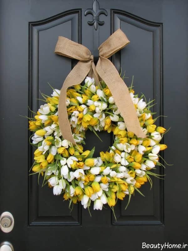 تزیین درب ورودی با گل