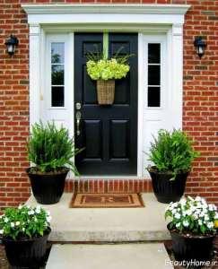 تزیین زیبا و خاص درب ورودی آپارتمان