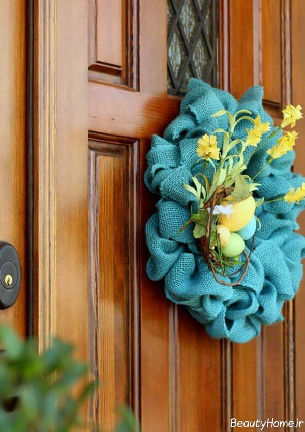 تزیین زیبا و شیک درب ورودی