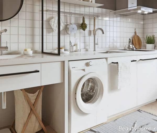 طراحی داخلی آشپزخانه کوچک و مدرن