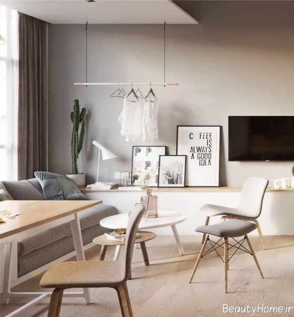 طراحی داخلی خانه کوچک و اروپایی
