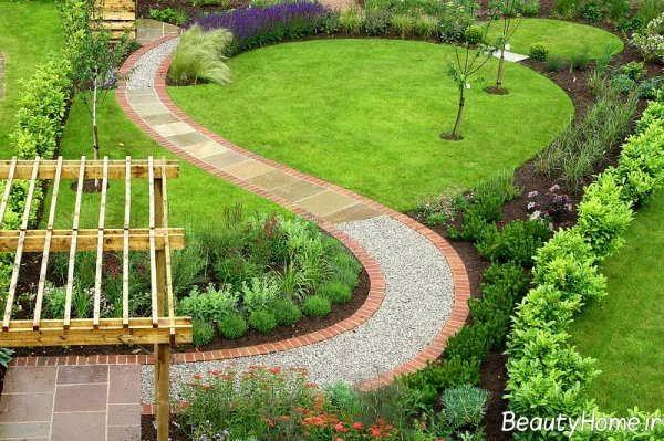 طراحی زیبا و خاص محوطه باغ