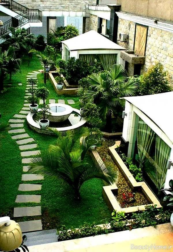 طراحی محوطه باغ با ایده های زیبا و مدرن