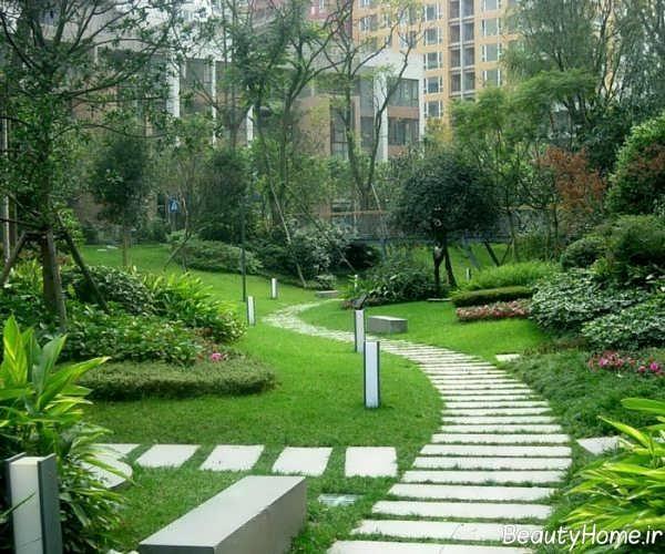 طراحی محوطه باغ ویلا و ساختمان های متفاوت