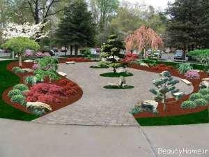 محوطه سازی خاص و زیبا باغ