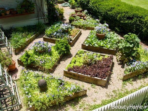 طراحی مدرن و شیک محوطه باغ