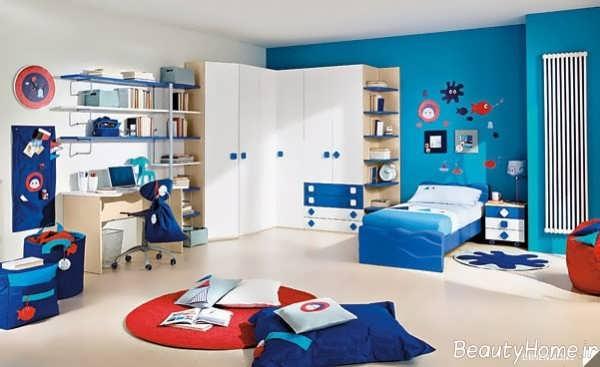 طراحی داخلی اتاق کودک پسرانه