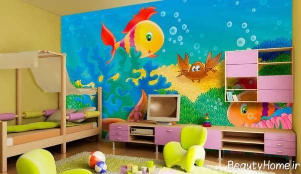 طراحی داخلی شیک و فانتزی اتاق کودک