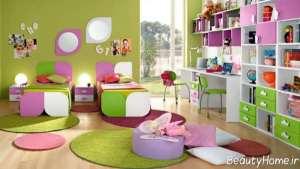دکوراسیون زیبا و کاربردی اتاق کودک دخترانه