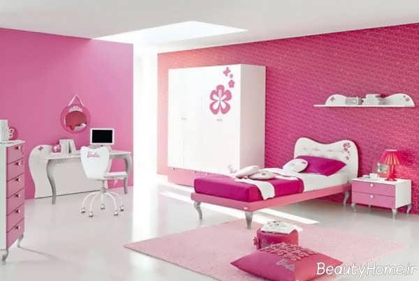 طراحی دکوراسیون اتاق کودک دخترانه