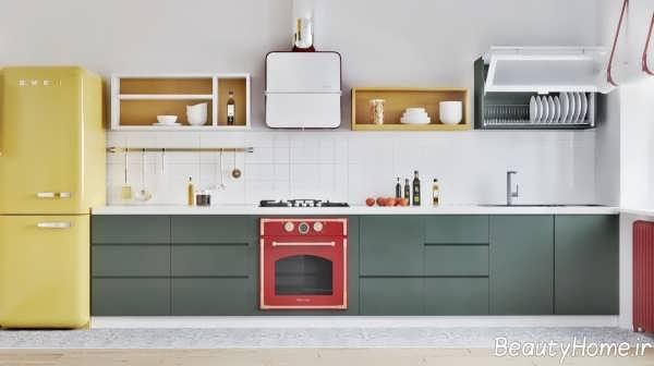دکوراسیون زیبا و مدرن آشپزخانه مینیمال