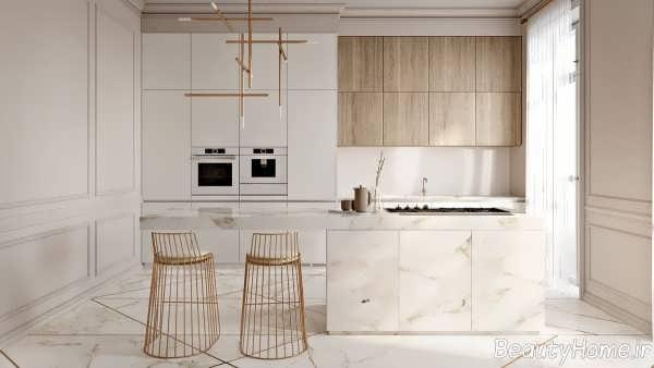 دکوراسیون ساده و مدرن آشپزخانه