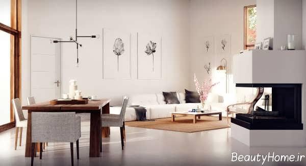 طراحی داخلی شیک و جذاب سالن پذیرایی