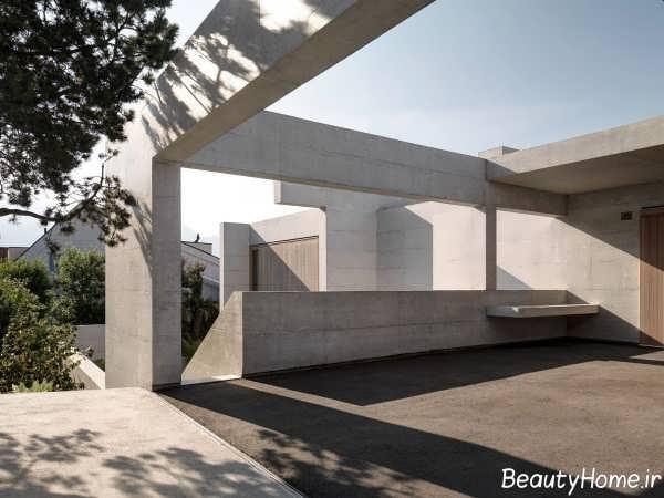 نمای خانه ویلایی دوبلکس