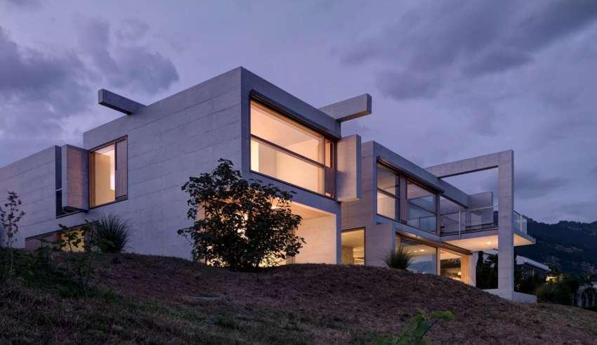طراحی نمای ویلای دوبلکس مدرن