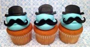 تزیین کاپ کیک با تم سبیل