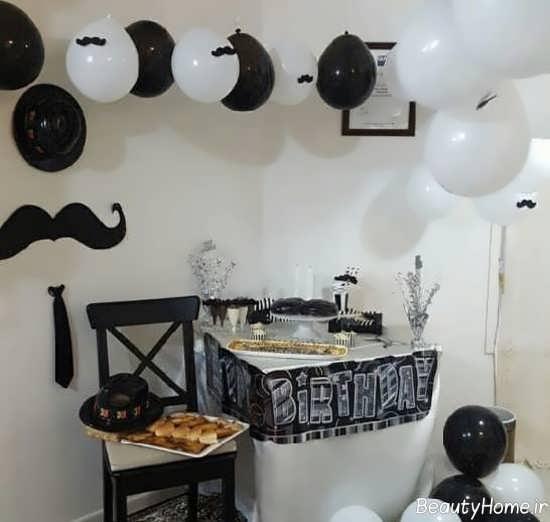 تزیین اتاق تولد با تم سبیل