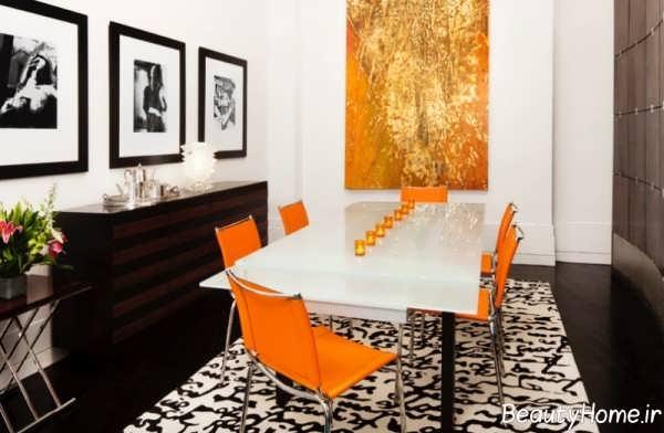 دکوراسیون زیبا و شیک نارنجی