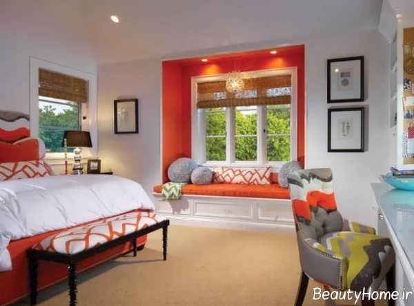 استفاده از رنگ نارنجی در اتاق خواب