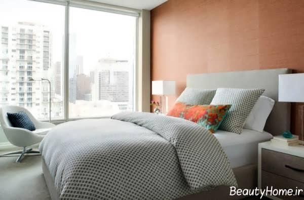 رنگ نارنجی در اتاق خواب