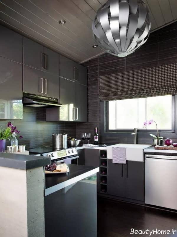 کابینت ام دی اف آشپزخانه کوچک آپارتمانی