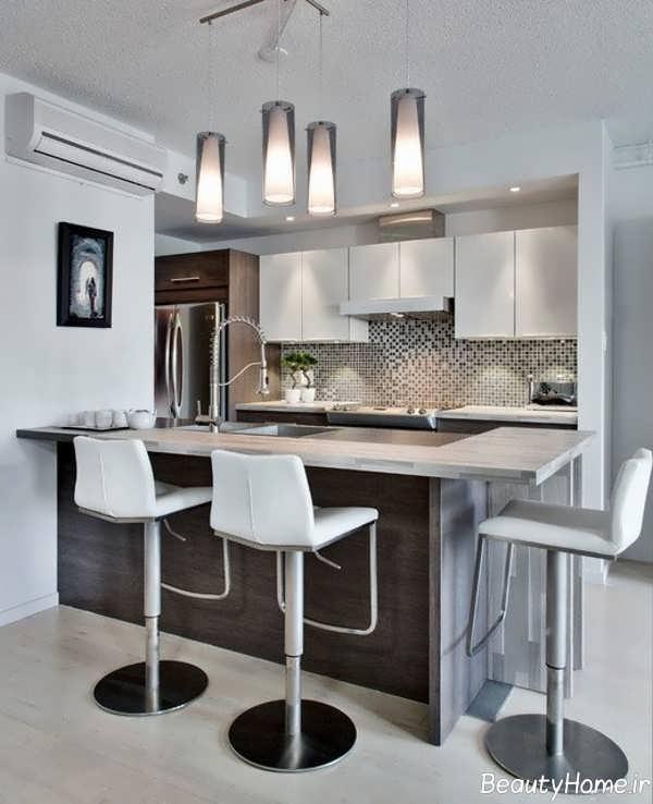 نورپردازی در آشپزخانه کوچک آپارتمانی