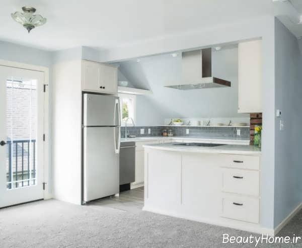 طراحی آشپزخانه کوچک و خاص آپارتمانی