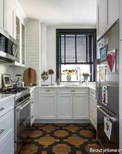 زیباترین آشپزخانه های کوچک آپارتمانی